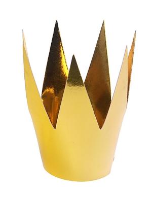 3 gab, Svētku cepurīte - zelta kronis, 5.5 cm
