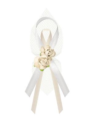 Līgavaiņa piespraude, krēmkrāsas, 9 cm