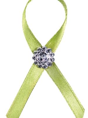 Līgavaiņa piespraude, zaļš ābols, 6 cm