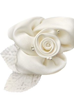 10 pcs, Roses with suction cups, cream, 6.5 cm