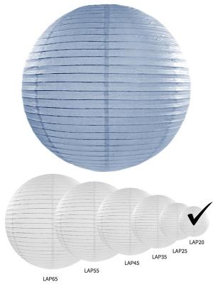 Papīra laterna, dūmakaini zila, 20 cm