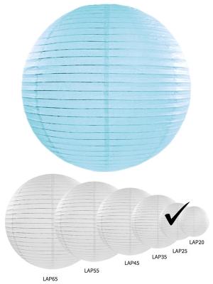 Papīra laterna, gaiši zila, 25 cm