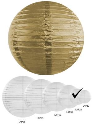 Papīra laterna, zelta, 25 cm