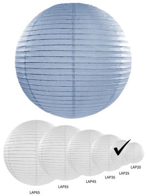 Papīra laterna, dūmakaini zila, 25 cm