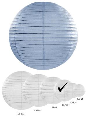 Papīra laterna, dūmakaini zila, 35 cm