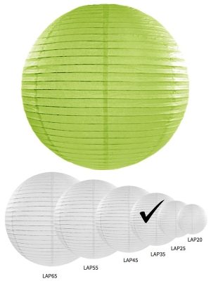 Papīra laterna, ābolu zaļa, 35 cm