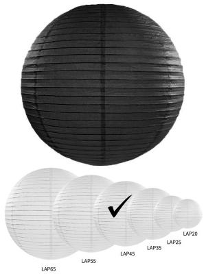 Papīra laterna, melna, 45 cm