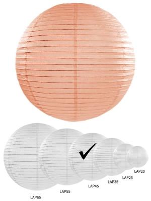 Papīra laterna, gaišs persiks, 45 cm