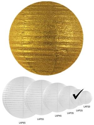 Laterna ar gliteriem, zelta, 25 cm