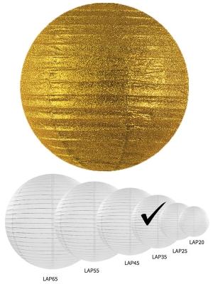 Laterna ar gliteriem, zelta, 35 cm