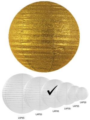 Laterna ar gliteriem, zelta, 45 cm