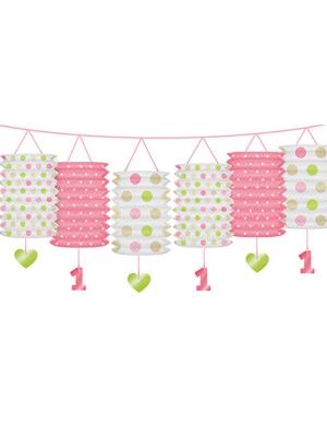 Virtene ar laternām, gaiši rozā, 3.60 m