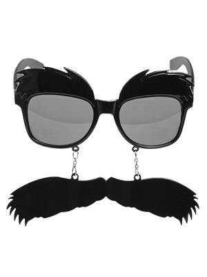 Brilles ar uzacīm un ūsām