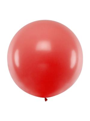 1 metra balons, sarkans, pastelis