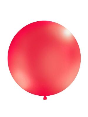 1 metra balons, sarkans, metālisks
