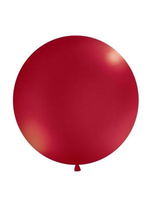 1 metra balons, tumši sarkans, metālisks