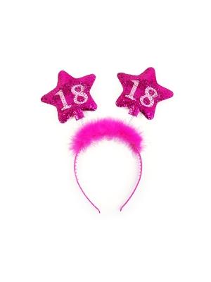 Stīpiņa ar zvaigznēm 18, rozā
