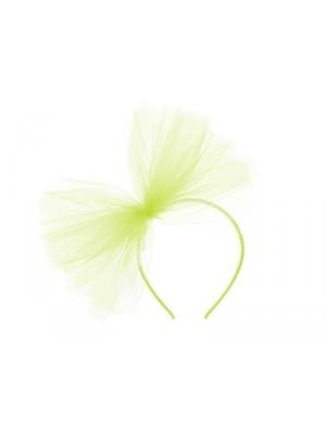Stīpiņa ar tilla pušķi, gaiši zaļa
