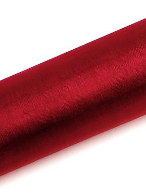 Organza, sarkana, 0.16 x 9 m