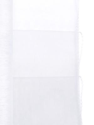 Organza apvīlēta, balta, 0.38 x 9 m