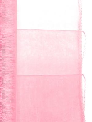 Organza apvīlēta, neona gaiši rozā, 0.38 x 9 m