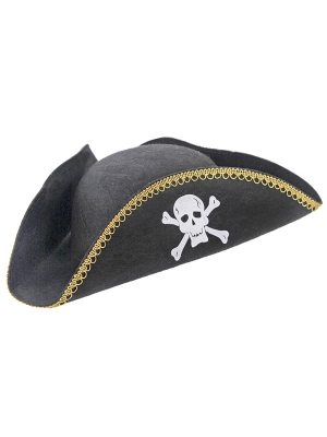 Pirates hat, black