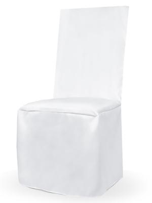 Matt fabric chair cover, white