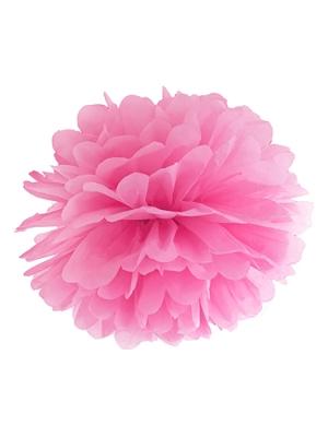 Zīdpapīra bumba, rozā, 25 cm