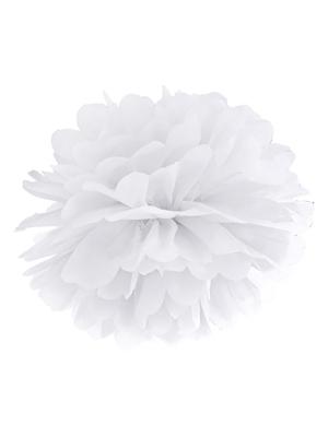 Zīdpapīra bumba, balta, 25 cm