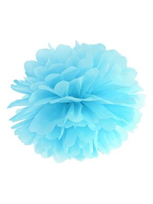 Zīdpapīra bumba, gaiši zila, 25 cm