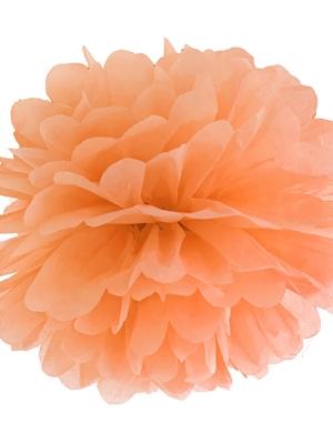 Zīdpapīra bumba, gaiši oranža, 35 cm