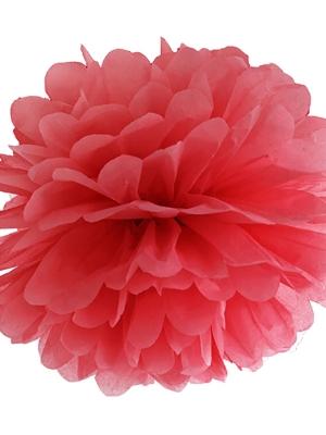Zīdpapīra bumba, sarkana, 35 cm