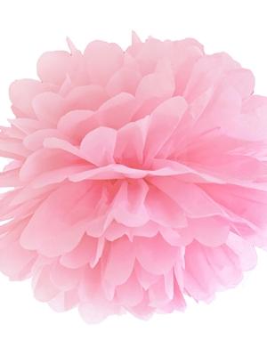 Zīdpapīra bumba, gaiši rozā, 35 cm