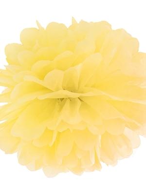 Zīdpapīra bumba, dzeltena, 35 cm