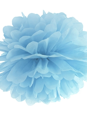 Zīdpapīra bumba, gaiši dūmakaini zila, 35 cm