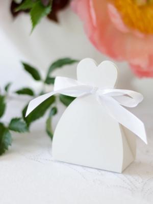 10 gab, Kastītes Līgava, baltas, 6.5 x 3 x 5 cm