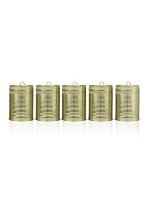 5 gab, Kāzu bundžas, gaišā zelta, 10 x 7 cm