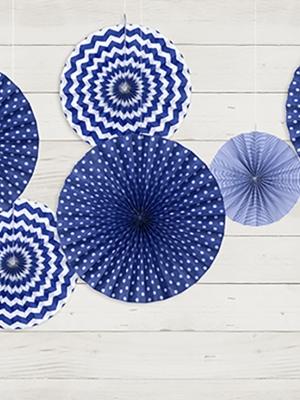 3 gab, Dekoratīvās rozetes, tumši zilas, 40, 32, 23 cm
