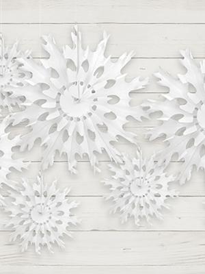Sniegpārsliņa, balta, 25 cm