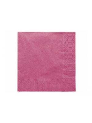 20 gb. Salvetes, fuksijas krāsā, 33x33 cm