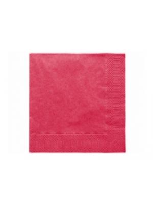 20 gb. Salvetes, tumši sarkanas, 33x33 cm