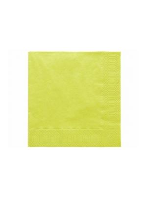 20 gab, Salvetes, kivi krāsā, 33 x 33 cm