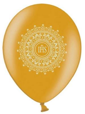 6 gab, Baloni Kristībām, zelta, 30 cm