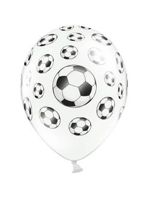 Balons Futbola bumba, balts ar melnu, 30 cm