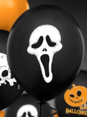 Balons Kliedziens, melns ar baltu, 30 cm