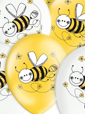 Balons Bitīte, balts vai dzeltens, 30 cm