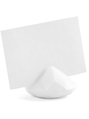 10 gab, Galda karšu turētāji Dimants, balts, 40 mm