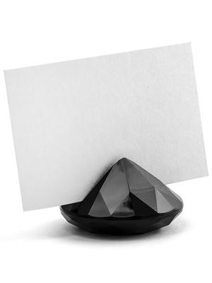 10 gab, Galda karšu turētājs Dimants, melns, 40 mm