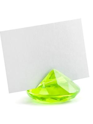 10 gab, Galda karšu turētājs Dimants, zaļš ābols, 40 mm