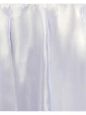 Galda svārki, balti, 0.75 x 4 m